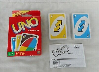 2010 Mattel UNO Card Game #V7195~Sealed Cards~Family Fun~Complete~NOS~NEW
