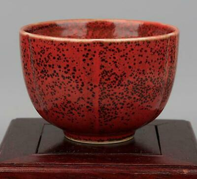 collection China old handmade Kiln red glaze Porcelain cup kangxi mark /03