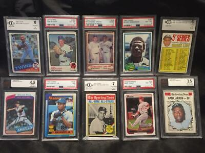 Mystery Graded Card Pack-1962 Topps Mantle/Mays PSA2?Trout,Aaron,Williams READ