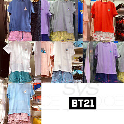 BTS BT21 Official Authentic Goods Summer Pajama SET 7Characters by Line Friends