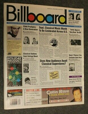 Billboard Magazine Aug 26, 1995 - Collin Raye, Hootie & The Blowfish, Shaggy