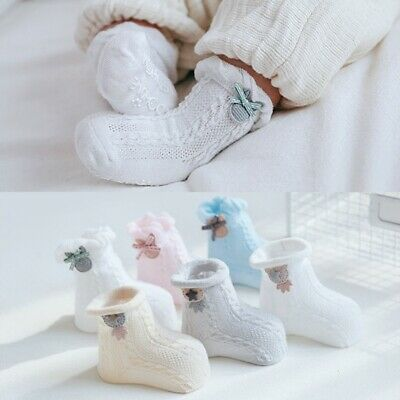 3 Pairs Baby Socks Soft Anti-Skid Newborn Ankle Socks Infant Socks 2 Size Choose
