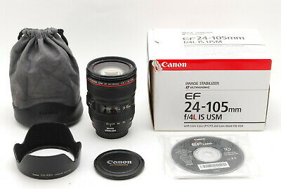 MINT IN BOX canon EF 24-105mm f/4 L IS USM AF Zoom Lens For EOS Mount From Japan