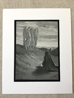 Abraham and the Angels Angel Victorian Engraving Antique Print