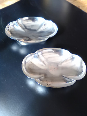 PAIR  of  VINTAGE SILVER PLATED  BON-BON DISHES  by  Walker & Hall