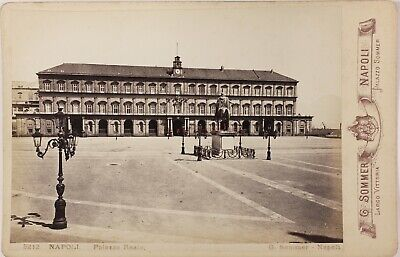 Italie Palazzo Reale Naples Photo Sommer c2n30 Carte Cabinet Vintage Albumine