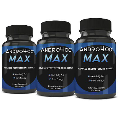 Andro400 Max - 3 Bottles (90 Day Supply) - Guaranteed Manufacture Direct