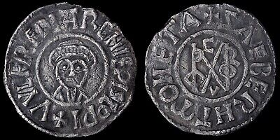 Anglo Saxon. Archbishop Wulfred, 805-32 AD. Silver Penny, Portrait And Monogram.