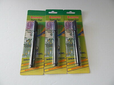 3 Pack Counterfeit Money Detector Tester Pen Marker Fake Dollar Bill Currency