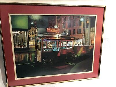 The Red Wagon Limited Addition Art Print By Elmer Grahl 1979 Sandusky Ohio