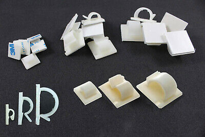 Self Adhesive Nylon Sticky Pads Mounts / Clips for Cable Wire Conduit Tubing