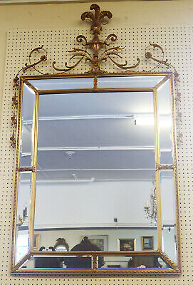 Enormous Carver's Guild Adams Style Gilded beveled Glass Mirror MINT