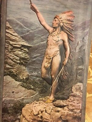 Antique 1905 Chief Embossed Picture by John Paulding