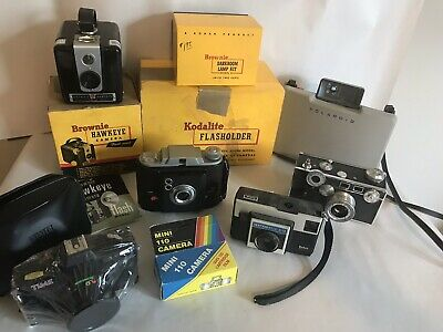 Lot Of Vintage Cameras And Equipment