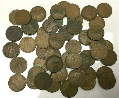 50 coins Wheat 1948P Lincoln Cent Roll