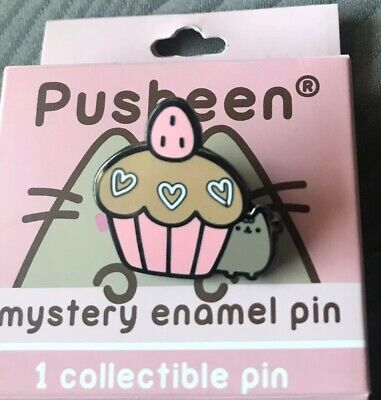 Pusheen Cat Mystery Valentine's Day Enamel Blind Bag Collectible Pin W//Cupcake