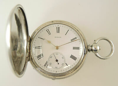 Silver Full Hunter Pocket Watch. Key Wound. By Dubois Circa 1870 Working