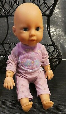 Zapf Creation Talking Crawling Baby Doll 2009 Zf16 With Chou Chou Outfit