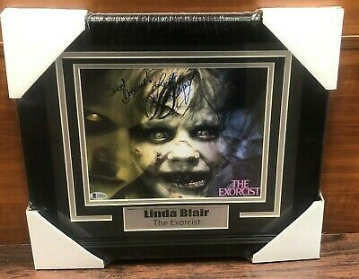 Linda Blair Autographed Signed & Framed 8x10 EXORCIST Photo BAS