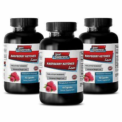 Best Fat Burner - Raspberry Ketones Lean 1200mg- Weight Loss Belly Belt Pills 3B