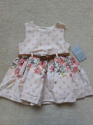Dresses Fine Baby Girls Red Cotton Floral Dress With Bloomers Age 3-6 Months Bnwt Matalan