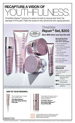 5 Piece Mary kay timewise volu-firm anti-aging repair set individually packaged