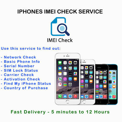 Apple iPhone Carrier Check Network SIM Lock Status Check Report Service ( FAST )