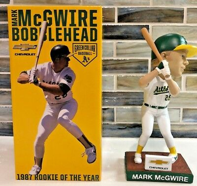 "2015 Mark Mcgwire ""1987 Rookie Of The Year"" Oakland Athletics Bobblehead A's Sga"