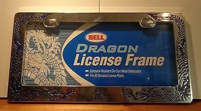 Bell Metal License Plate Frame DRAGON For US style plates