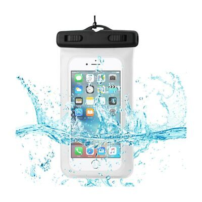 Waterproof For 4.7 Inches Devices With Floating Adjustable Wrist Strap In White