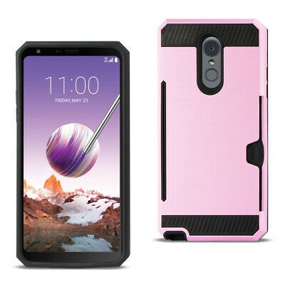 Reiko LG Stylo 4 Slim Armor Hybrid Case With Card Holder