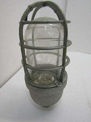 Vintage Crouse Hinds Industrial Explosion Proof Dome Light Glass Ceiling Mount