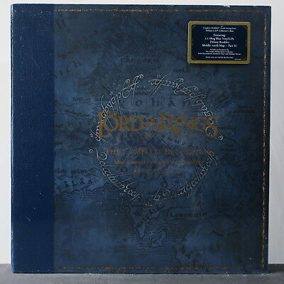 'LORD OF THE RINGS: TWO TOWERS Ltd. Edition 180g BLUE Vinyl 5LP Box Set NEW