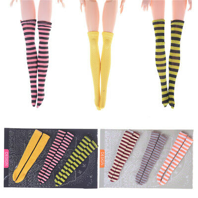 3 Pair/Set Doll Stockings Socks For 1/6 Dolls Kids Gift Toy AU