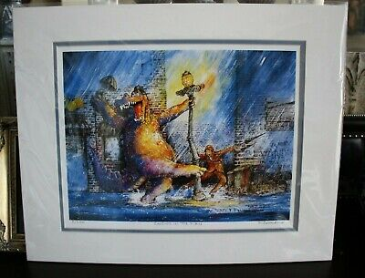 """Ron Rodecker SINGING IN THE RAIN Limited Edition Giclee Print 5/250 COA 10""""X14"""""""