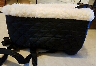 Snoozer look out console pet car seat cream fur NEW-Small