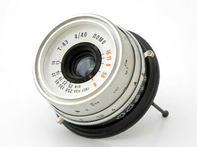 Soviet USSR lens Triplet T43 LOMO silver f4_40mm for optical construction