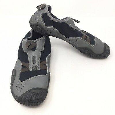 bb84be7498fa Teva Proton Water Barefoot Shoes Mens Size 12 Black Gray Slip On Sport 1E