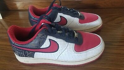 finest selection 0fdfc 67775 2007 Nike Air Force One 1 Low Premium Size 8.5 White/Red Philly 315180-
