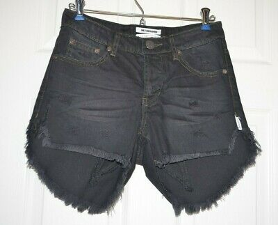 1b28ab2009 NEW ONE By One Teaspoon Juliettes Bandits Cut Off Jean Shorts Star Panel 26