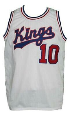d2fa3f811552 Nate Archibald  10 Kings Custom Basketball Jersey Sewn White - Any Size