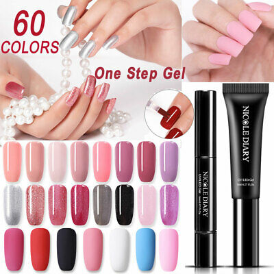 Nail Varnish Pen Glitter Nail Gel Nail Polish One Step 24Colors UV Led Lamp Use