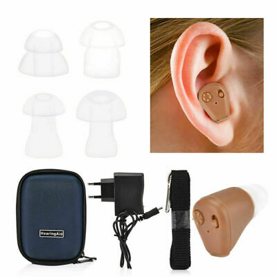 Mini Rechargeable Ear Hearing Aid In Ear (ITE) Sound Voice Amplifier w/Box T6B7