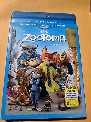 NEW Disney Zootopia Blu-ray& DVD NO DIGITAL BLUERAY disc kids animation movie