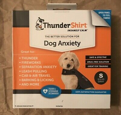 Thundershirt for Dogs - BRAND NEW - ALL SIZES - Solid Grey - NEW in Box