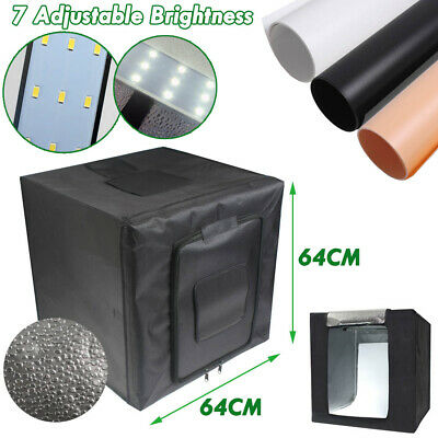 64CM Portable LED Light Tent Room Soft Box Lighting Kit Backdrop Photography