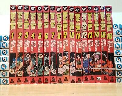 DRAGON BALL 1-16 Manga Collection Complete Set Run Volumes ENGLISH RARE