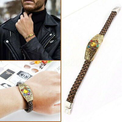 Braided-Leather Infinity Stones Wristband The Infinity War Rope Woven Bracelet