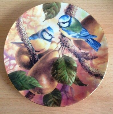 Wedgwood Old English Orchard Plate  BLUE TITS & Pears Bone China 1966