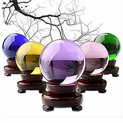 Clear Glass Crystal Ball Healing Sphere Photography Props Gifts 40mm TZU